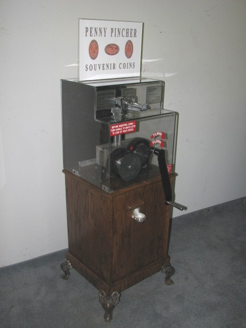 Used Hand Crank Penny Machine